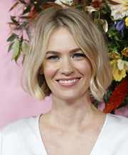 January Jones looked sweet and stylish with her short bob at the New York premiere of 'The Politician.'