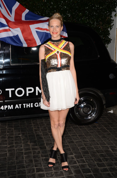 Poppy Delevingne Beaded Dress