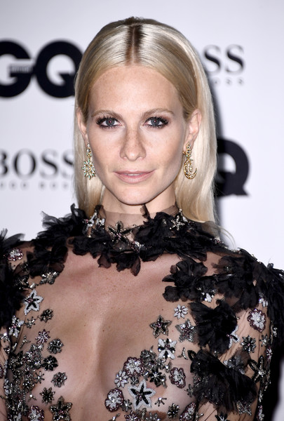 Poppy Delevingne Long Straight Cut [hair,hairstyle,eyebrow,blond,shoulder,beauty,lip,long hair,chin,dress,gq men of the year awards,poppy delevingne,gq men of the year awards,england,london,tate modern,red carpet arrivals]
