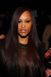 Eve attended the 2013 Prabal Gurung fashion show with her sleek straight hair cascading down her shoulders.