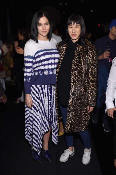 Leigh Lezark and Eva Chen at Prabal Gurung