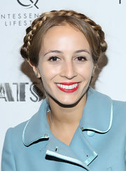 Harley Viera-Newton chose a classic red lip for her look at the NYC screening of 'The Great Gatsby.'