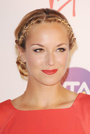 Sabine Lisicki's cat eyes make her light brown eyes pop in a fierce way.