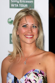 Holly Branson opted for pretty silver chain necklace with two heart pendants to finish her Pre-Wimbledon outfit.
