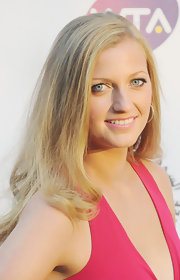 A light pink gloss is all Petra needed at the pre-Wimbledon party.