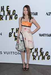 Katie Chang chose an asymmetrical-hemmed floral frock for her look at 'The Bling Ring' premiere.