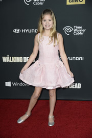 Kyla Kenedy looked so adorable all the way down to her silver Mary Janes.