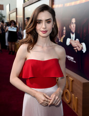 Lily Collins got blinged up with some stackable rings for the premiere of 'The Last Tycoon.'