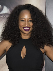Monique Coleman looked fab with her mega-voluminous curls at the premiere of 'Kidnap.'