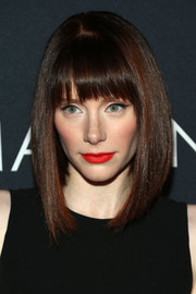 Bryce Dallas Howard looked striking with her sleek asymmetrical cut and bold makeup during Canon's Project Imaginat10n Film Festival.