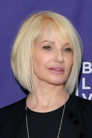 Actress Ellen Barkin made her rounds at the Tribeca Film Festival where she showed off her sleek platinum bob.