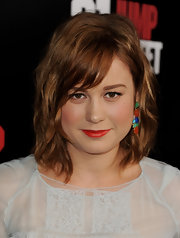 Brie Larson attended the premiere of '21 Jump Street' wearing her layered cut in subtle waves with side-swept bangs.
