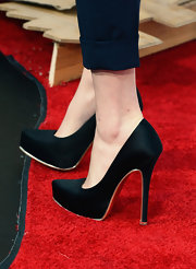 Emma Watson's black sky-high pumps looked super chic on the red carpet.