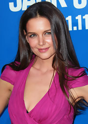 Katie Holmes' ultra long locks were sleek and shiny at the 'Jack and Jill' premiere.