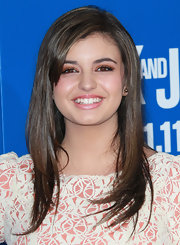 Rebecca Black played up her eyes with pretty, glittery metallic copper shadow at the 'Jack and Jill' premiere.