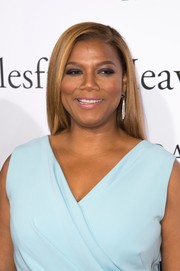 Queen Latifah sported an elegant side-parted hairstyle at the premiere of 'Miracles from Heaven.'