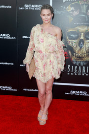 Jennifer Morrison was a boho babe in a floral off-the-shoulder romper by Zimmermann at the premiere of 'Sicario: Day of the Soldado.'