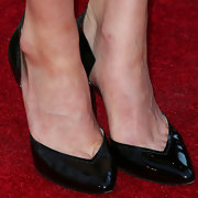 A pair of classic black pumps topped off Alexis Bledel's red carpet look at the premiere of 'Remembering Sunday.'