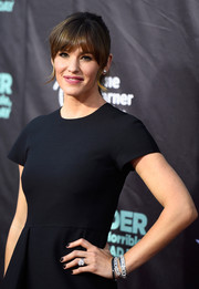 For a bit of sparkle to her plain black dress, Jennifer Garner accessorized with a beautiful pair of diamond bracelets during the premiere of 'Alexander and the Terrible, Horrible, No Good, Very Bad Day.'