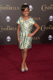Marsai Martin donned a shimmery floral dress for the Hollywood premiere of 'Cinderella.'
