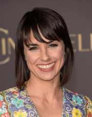 Constance Zimmer opted for a basic bob with wispy bangs when she attended the Hollywood premiere of 'Cinderella.'