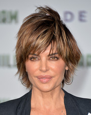 Lisa Rinna sported a windswept razor cut at the premiere of 'Million Dollar Arm.'