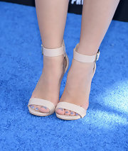 Caroline Sunshine opted for super simple pumps in a neutral nude shade for her look at the 'Monsters University' premiere.