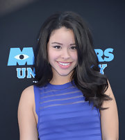 Cierra Ramirez stuck to big and bouncy layers at the 'Monsters University' premiere in Hollywood.