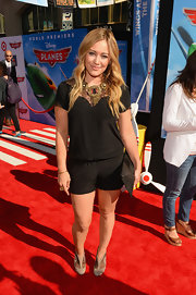 Hilary Duff's all-black romper was a classic choice for a daytime red carpet.