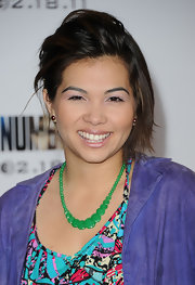 Hayley Kiyoko wore her hair in an ultra-mod half-up half-down style at the premiere of 'I Am Number Four.'