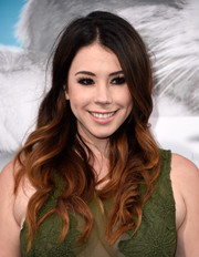 Jillian Rose Reed wore her long curls loose when she attended the premiere of 'Nine Lives.'