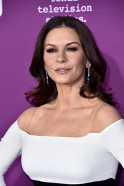 Catherine Zeta-Jones looked as lovely as ever with her long wavy hair at the premiere of 'Feud: Bette and Joan.'