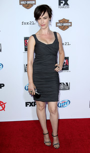 Maggie Siff looked oh-so-sexy all the way down to her sparkly evening sandals at the premiere of 'Sons of Anarchy' season 6.