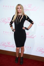 Paris Hilton looked fierce in a body-con black cutout dress by Hamel at the premiere of 'The Beguiled.'