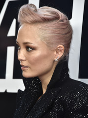 Pom Klementieff kept it fun with this pink-dyed pompadour at the premiere of 'BlacKkKlansman.'