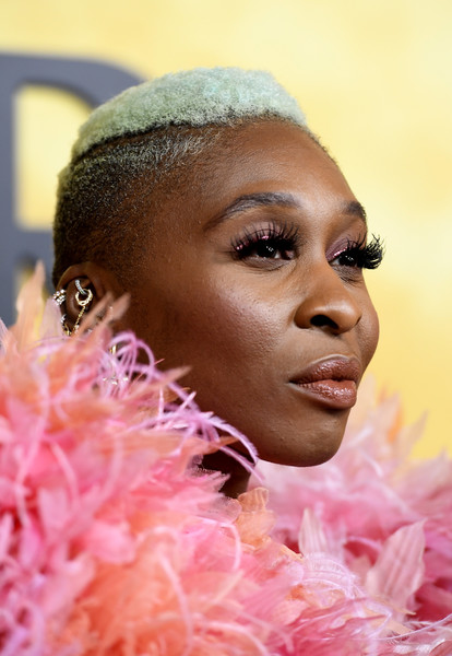 More Pics of Cynthia Erivo Princess Gown (7 of 19) - Dresses & Skirts Lookbook - StyleBistro [premiere of focus features,face,hair,eyebrow,head,pink,skin,lip,hairstyle,nose,close-up,arrivals,harriet,cynthia erivo,california,los angeles,the orpheum theatre,focus features,premiere]