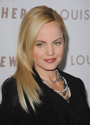 Actress Mena Suvari showcased sleek long locks while attending the 'Somewhere' premiere.