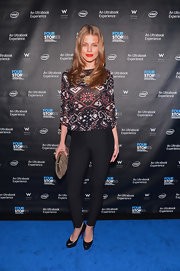AnnaLynne's well-tailored trousers at the 'Four Stories' after-party were a smart and sophisticated choice.