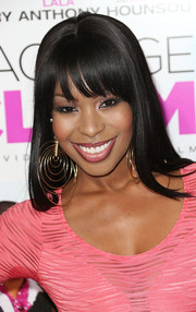 Porscha Coleman looked flawlessly styled with this long straight cut at the premiere of 'Baggage Claim.'