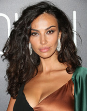 Madalina Diana Ghenea paired her fab hairstyle with diamond feather earrings.