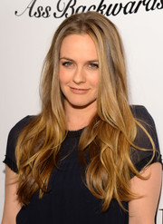 Alicia Silverstone was hippie-chic with her long, mussed-up waves at the 'Ass Backwards' premiere.