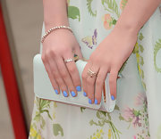 Maisie Williams' pastel nails gave the young star a fun and youthful look while attending the 'Game of Thrones' Season 3 premiere.