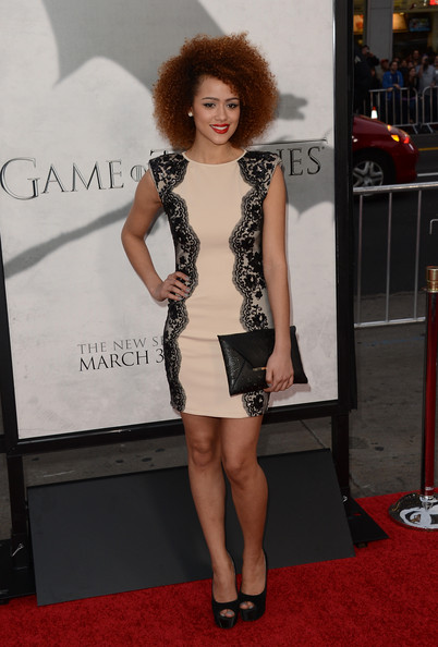 More Pics of Nathalie Emmanuel Medium Curls (1 of 9) - Shoulder Length Hairstyles Lookbook - StyleBistro