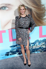 Reese Witherspoon radiated in a multicolored sequin dress by Elie Saab at the premiere of 'Big Little Lies.'