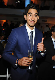 Dev Patel looked snappy in this tailored blue suit.