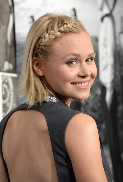 Alison Pill looked simply ethereal with a side French braid.