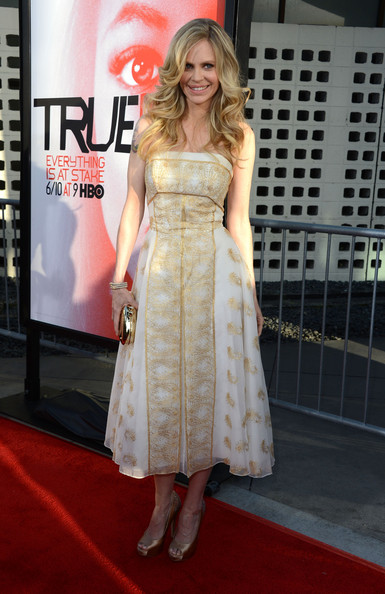 Kristin Bauer van Straten stepped out in what looked like a modernized renaissance dress.
