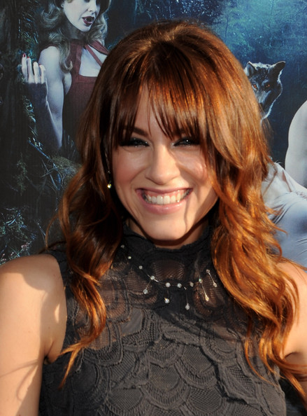 More Pics of Brit Morgan Medium Curls with Bangs (4 of 15) - Brit Morgan Lookbook - StyleBistro