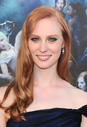 Deborah Ann Woll flaunted her long red locks while walking the red carpet.