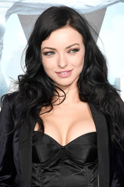 Francesca Eastwood wore her raven tresses in a tumble of curls at the premiere of 'Westworld.'